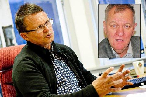 INTERIMSTYRE: Knut Wilhelmsen (innfelt) er leder av det nye interimstyret i Tromsø Ryttersportsklubb. Med seg får han Knut Bjørklund og Inger-Lise Brones.