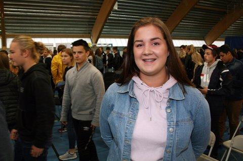 Maria Bjørkli (17) brakte Sylvi Listhaug inn i skoledebatten.