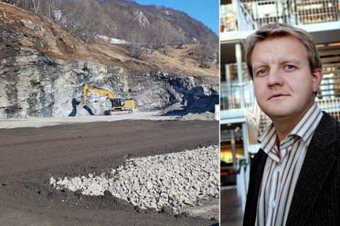 REAGERER KRAFTIG: - Et naust i Kattfjorden får man ikke bygge, mens andre får bygge et helt asfaltverk på dispensasjon, sier  Øyvind Hilmarsen (H).