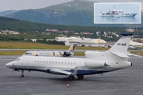 STANDSMESSIG: Privatjet og lukusyacht, Lord Ashcroft reiser standsmessig på hans reise i Troms.