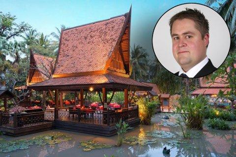 SJEF: Torgrim Viken er operativ leder på AVANI  Resort og Spa i Pattaya. Hotellet er ett av de aller største i Pattaya og over 300 ansatte rapporterer til Viken. Foto: Privat