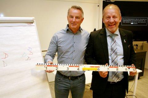 LÆRERUTDANNING: Daglig leder Vidar Gunnberg i Studiesenteret Finnsnes og ordfører Geir Inge Sivertsen vil bremse lærermangelen.