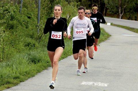 PERSET: Yngvild Kaspersen løp inn til ny personlig rekord på halvmaraton i Drammen.
