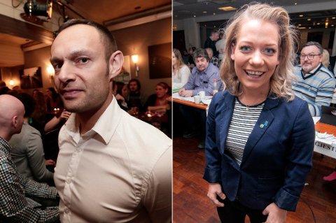 DUELL: Sandra Borch (Sp) har riktignok et godt forsprang på Torgeir Knag Fylkenes (SV), men ifølge Nordlys' siste måling kniver de to rødgrønne kandidatene om det siste, faste stortingsmandatet i Troms.
