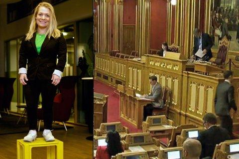DROPPER KASSA: Sandra Borch ligger an til å komme inn på Stortinget, men ølkassa hun har hatt som fast følgesvenn i kommunestyresalen, må hun legge igjen hjemme.