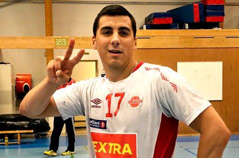 PROFIL: Domagoj Ferencina var godt fornøyd etter ti mål selv og seksmålsseier for Bravo i serieåpningen på hjemmebane.
