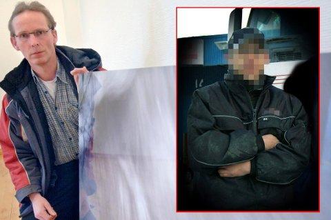 AVSLAG: 46-åringen (innfelt) var siktet for drap på Per Vålnes (50). Saken ble henlagt sommeren 2015 og siktelsen mot mannen frafalt. Han søkte oppreisning for tiden han satt varetektsfengslet, men kravet er avslått.