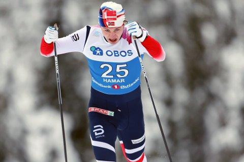 TIL TOPPS: Erik Valnes vant sprinten under FIS-rennet i finske Mounio i dag.