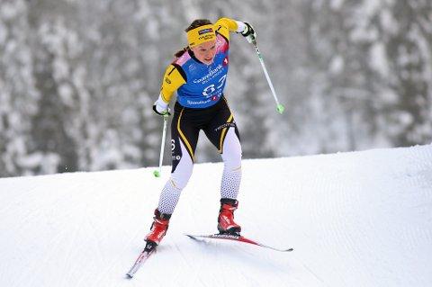 Berthe Svenkerud fra Kvaløysletta skilag overrasket stort med sjetteplass under 10 kilometer fristil for kvinner under NM på ski på Gåsbu fredag.