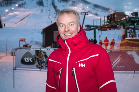 TAKKET JA: Rune Kufaas i Tromsø Alpinpark stiller anlegget til disposisjon for trening og kvalifisering ved et eventuelt alpin-VM i Narvik. Narvik søker om mesterskapet i 2025, og vil også inkludere Bardu og Harstad som arenaer.