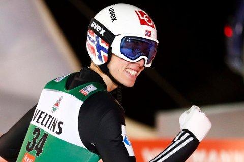 KVALIFISERT: Johann André Forfang kvalifiserte seg til søndagens verdenscuprenn i Zakopane. Her fra VM i skiflyging i Oberstdorf.