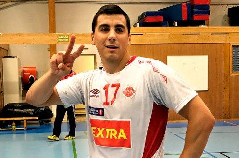 I EN EGEN KLASSE: Domagoj Ferencina storspilte da Bravo sikret seg en ny hjemmeseier mot LFH09 søndag kveld.