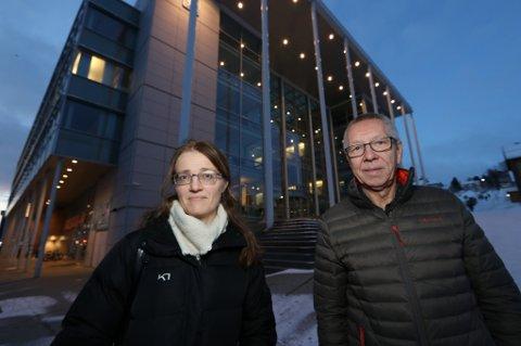 BEKYMRET. Dokumentarist Hanne Johnsen og leder av Tromsdalen bydelsråd, John Pedersen.