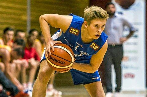 GODT LEVERT: Johannes Lange satte inn hele 24 poeng mot Frøya søndag, men Tromsø Storm tapte til slutt med 14 poeng.