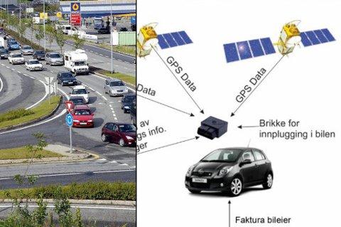NYTT SYSTEM: Tromsø kan bli første by i Norge som innfører GPS i stedet for bomstasjoner. GPS-systemet vil også kunne regne ut hvor langt du har kjørt innenfor en sone, og fakturere deretter.