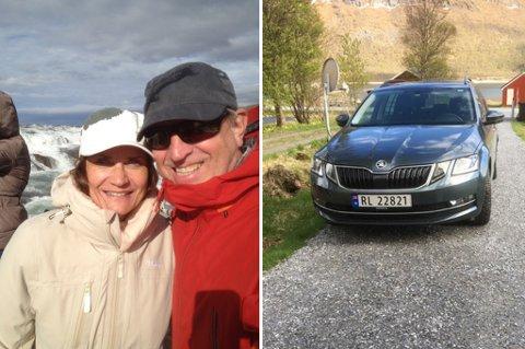 Ekteparet John Arne Grinde og Anne-Britt Benjaminsen  var uheldig med Skodaen de leide av Europcar Tromsø lufthavn i mai.