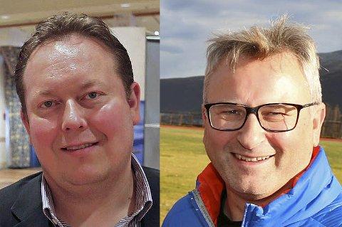 - MÅ GJØRE MER: Både Jarle Heitmann (Arbeiderpartiet, t.v) og Tormod Ingebrigtsen (Høyre, t.h) mener Tromsø kommune må gjøre mer for sine idrettslag.