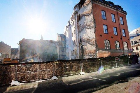 SKAL BLI NY: Rødbanken er under ombygging.