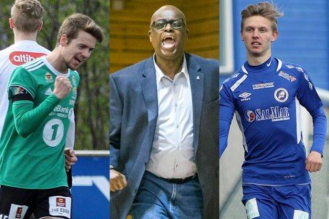 STOR SPORTSHELG: Fredrik Lund (Finnsnes), Kenneth Webb (Tromsø Storm) og Markus Johnsgård (FK Senja) er alle aktører når nordlys.no slår til med en svært fyldig helg med sport i direktesendinger og opptak.