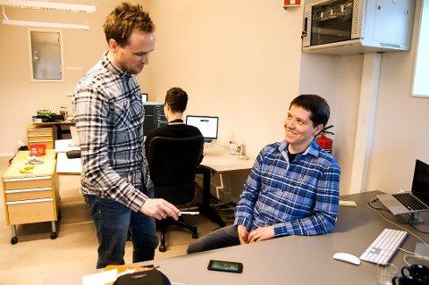 IT-GRÛNDER: Håkon Bertheussen (til høyre) tjener fortsatt store penger på Wordfeud.