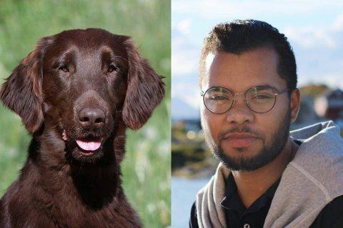 FEIL FLY: Patrick Oware landet alene på Gardermoen da det viste seg at SAS hadde sendt hunden hans «Baxer» på feil fly til Bodø.