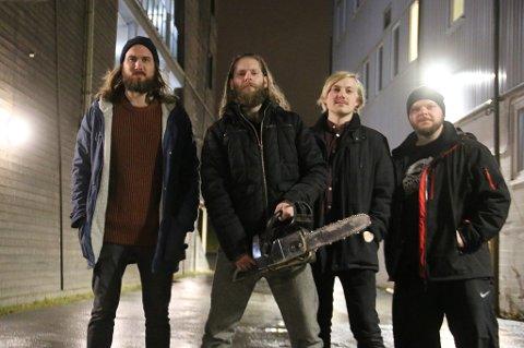 BOOKET STORSCENEN: Lørdag skal det relativt ferske rockebandet spille på den største scenen på Driv i Tromsø. De vedgår at det er fare for at det ikke kommer så mange.