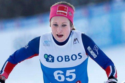 KVARTFINALE-STOPP: Anna Svendsen kom på 17. plass under sprinten lørdag. I morgen venter 10 kilometer klassisk for Tromsø-løperen.