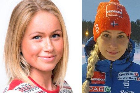 SATT UT: Silje Theodorsen (t.v.) trener seg opp etter en tung høst, og håper hun kan være i konkurranse igjen snart. Når det skjer for Lovise Heimdal (t.h.) er helt uvisst, grunnet en overbelastning. Dermed er Anna Svendsen eneste kvinnelige løper fra Team Nord-Norge i aksjon for tida. Hun gjør det til gjengjeld svært godt, og er til helga å finne i verdenscupløypene på Lillehammer.
