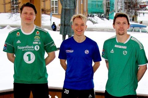 PÅ ULIKT NIVÅ: Vebjørn Grunnvoll fra Finnsnes (t.v.) og Dan-Roger Roland fra Fløya (t.h.) kommer til å møtes også i 2019, mens Christer Johnsgårds Senja er klar for en knalltøff avdeling i PostNord-ligaen.