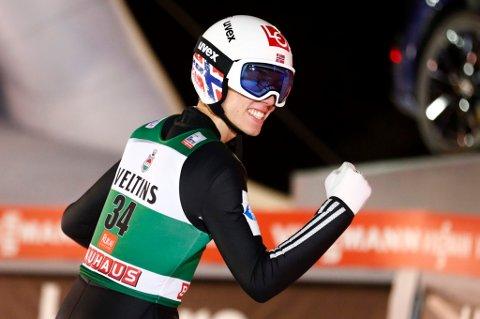 SEIER!: Johann André Forfang vant verdenscuprennet i russiske Nizhny Tagil lørdag.