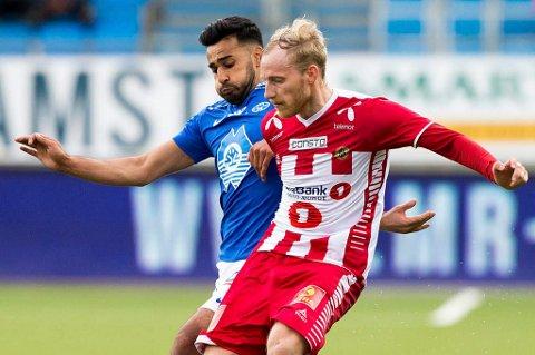 HET SPILLER: Gjermund Åsen har interesse fra en rekke klubber i eliteserien, inkludert Etzaz Hussains Molde. 27-åringen skal ikke ha et ønske om å forlenge kontrakten med TIL, men klubben skal kreve flere millioner hvis et vintersalg skal bli aktuelt.