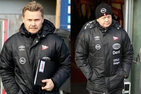 NYE ROLLER: Bjørn Johansen overtar som hovedtrener for Fredrikstad FK, mens Per-Mathias Høgmo får en rolle som sportslig leder i klubben.