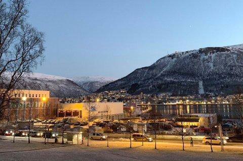 SØRBYEN: Det ligger an til et stort utviklingsprosjekt sør i Tromsø sentrum.