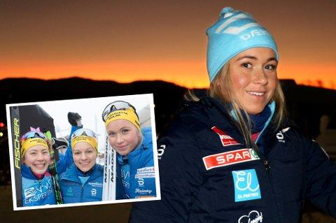 SØLVJENTENE: Silje Theodorsen har sterke minner fra det imponerende NM-sølvet hun sikret med Merete Myrseth og Berthe Svenkerud (innfelt) for snart ett år siden. Nå er 24-åringen et stykke unna å tenke på NM-medaljer. Det er for tiden usikkert hvor mange konkurranser på toppnivå hun får med seg denne sesongen.