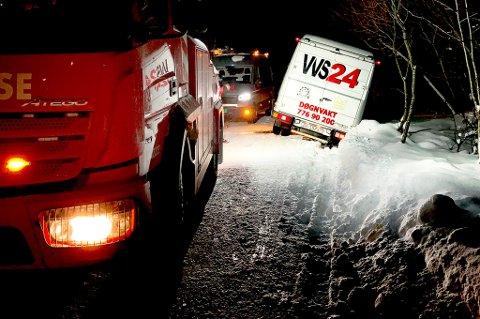 Mange har fått hjelp fra VVS 24 i jula. Her måtte de selv få hjelp. Foto: Øystein Bekkevoll