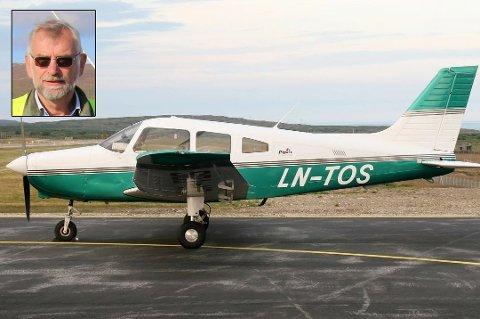 STYRTET: Tromsø flyklubbs fly av typen Piper PA-28, med kjennetegnet LN-TOS, ble kjøpt i 2005, og har siden blitt leid ut til klubbmedlemmene, forteller Yngve Johnsen , som er leder av Tromsø flyklubb. Her er flyet avbildet på Vadsø lufthavn i 2013.