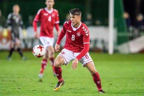 MED TIL I SPANIA: Den danske U20-landslagsspilleren Oliver Kjærgaard er aktuell for en overgang til TIL. Tirsdag kommer han til Spania for å slutte seg til TILs treningsleir i Marbella.