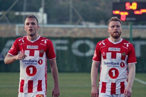 RYSTET: Lasse Nilsen og Tom Høgli var rystet av skaden som Vålerenga-stopperne Jonathan Tollås Nation og Felipe Carvalho pådro seg tidlig i kampen mot TIL.
