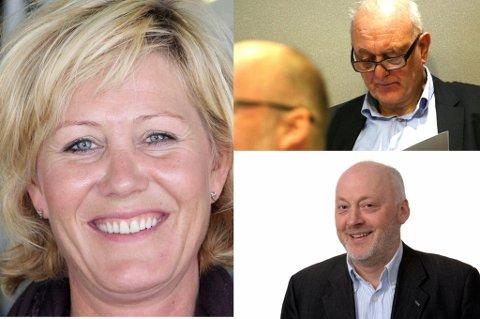 DIREKTØRLØNNINGER: Kristian Fanghol, Siw Sandvik og Finn Henry Hansen.