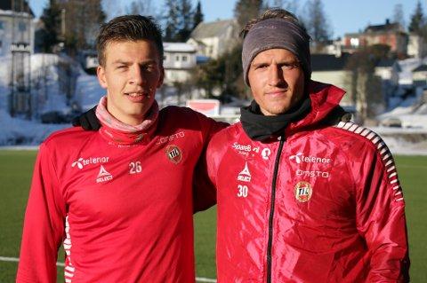 DE SOM BLE IGJEN: På rundt to måneder har Ulrik Yttergård Jenssen og Mikael Norø Ingebrigtsen blitt solgt, og Fredrik Michalsen er løst fra TIL-kontrakten. Dermed er det bare Jostein Gundersen (t.v.) og Runar Espejord igjen av 1996-årgangen som kom samtidig opp i TILs A-lag.