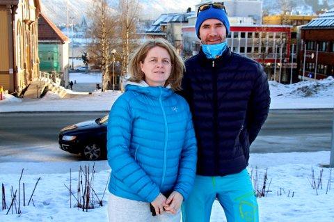 REAGERER: Leder for idrettsfag Cathrine Vangen og seksjonsleder for toppidrett Terje Øvergård ved Tromsdalen videregående skole synes det er merkelig at NTG Tromsø lanserer et håndballtilbud der det gis inntrykk av at noe slikt ikke finnes i Tromsø, og understreker at de har hatt et tilbud for NTGs nye satsinger håndball og volleyball i 12 år.