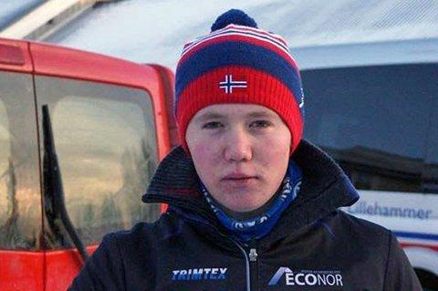 VANT: Eirik Silsand Gerhardsen fra Tromsø Skiskytterlag var i skyene etter at hans første medalje var et faktum.