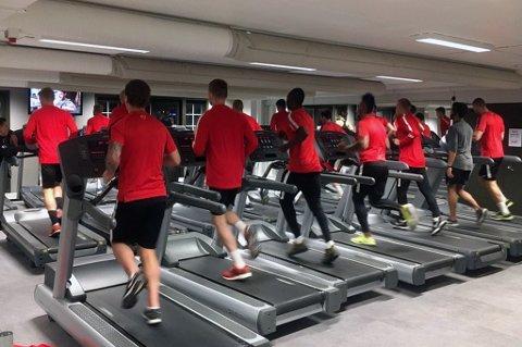 Brann-spillerne endte opp på treningsstudio i stedte for å spille serieåpning mot Ranheim, etter at kampen ble utsatt på grunn av baneforholdene i Trondheim.