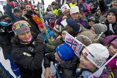Marit Bjørgen på Storelva under NM på ski del II i 2011. Skidronninga fortsetter kanskje til NM i 2020, men det blir ikke gjensyn med Tromsø. Skiforbundet har vraket Tromsø som arrangør av stor-NM for alle nordiske grener på grunn av manglende storbakke i hopp.