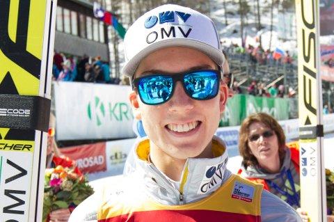 KANONHOPP: Johann André Forfang leverte hele 241 meter i kvalifiseringen i Planica.