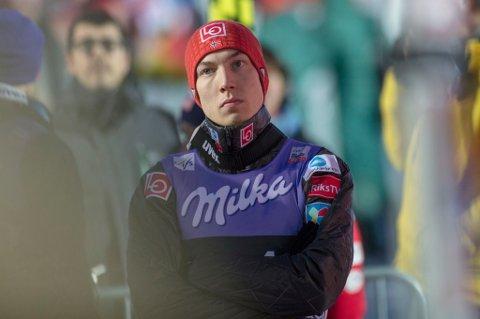 SÅ VIDT: Johann André Forfang er en av favorittene til å kunne vinne hoppuka, men åpnet med en svært beskjeden 48. plass i kvalifiseringen til åpningsrennet.