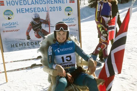 HISTORISK: Daniel Johansen vant hovedlnadsrennet i utfor for 15-åringen torsdag. Ingen alpinister på gutte- og herresiden i klubben har noen gang klart det før.