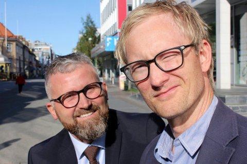 Ivar J. Nerdal og Tom Espen Stormo i Sne Eiendom i Tromsø