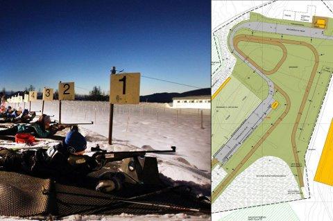 I SIKTE: Både skiskytterne og langrennsløperne kan nå se fram til ny stadion på Templarheimen før neste sesong. Bildet er fra en tirsdagstrening med barn fra 8-11 år i 2013.