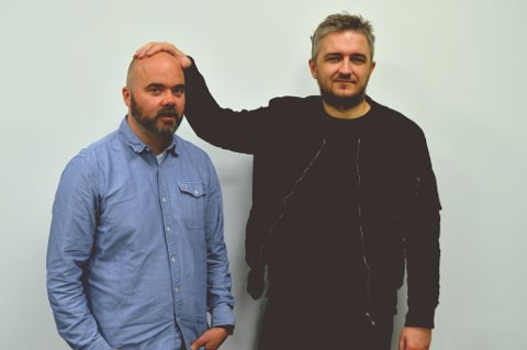 TROMSØ-BESØK: Fotballklubben – Thomas Aune (t.v.) og Aleksander Schau – kommer til Tromsø for første gang 13. april for å holde liveshow. Gjester er Egon Holstad, Tom Høgli og Steinar Nilsen.
